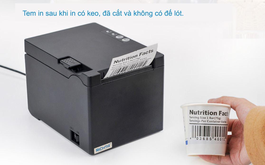 Tem của máy in nhãn không đế Richta R330F
