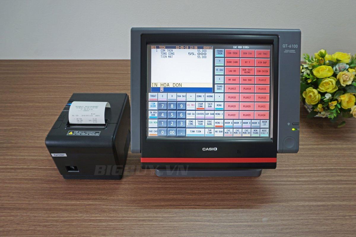 Máy tính tiền Casio QT6100