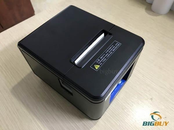 Lắp đặt giấy cho máy in hóa đơn