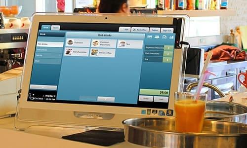 Máy tính tiền quán trà sữa