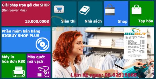 Giải pháp siêu thị trọn gói BigbuyShop Plus
