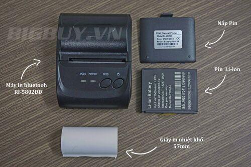 Máy in hóa đơn không dây bluethooth RI-5802DD_2