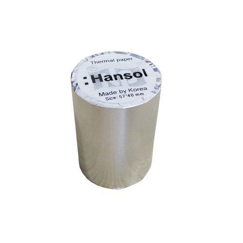Giấy in nhiệt Hansol K57 Ø40
